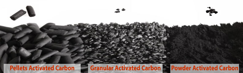 Activated Carbon Types, Granular, Powder